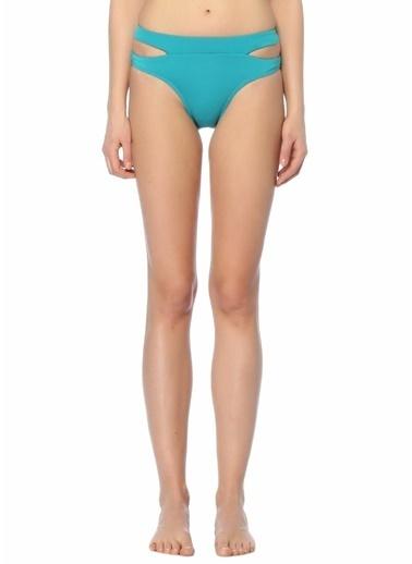 Jets Yanları Pencere Detaylı Bikini Altı Turkuaz